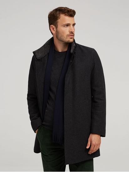 Image sur Manteau laine et col fourrure mouton détachable