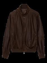 Image sur Blouson cuir motif perforé