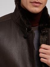 Image sur Veste cuir et peau de mouton