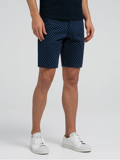 Image sur Short chino Slim Fit à pois