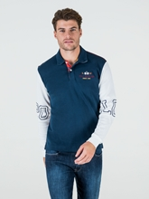 Bild von Polo-Shirt in Colourblock-Optik mit Patches