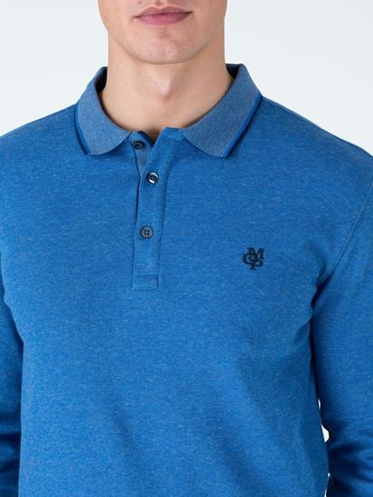 Bild von Polo-Shirt im Shaped Fit in melierter Optik