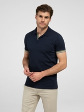 Image sur Polo Shaped Fit coton piqué à rayures