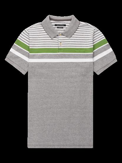Image sur Polo Shaped Fit coton piqué et rayures