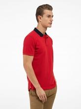 Bild von Polo-Shirt im Regular Fit aus Piqué mit Kontrast-Kragen