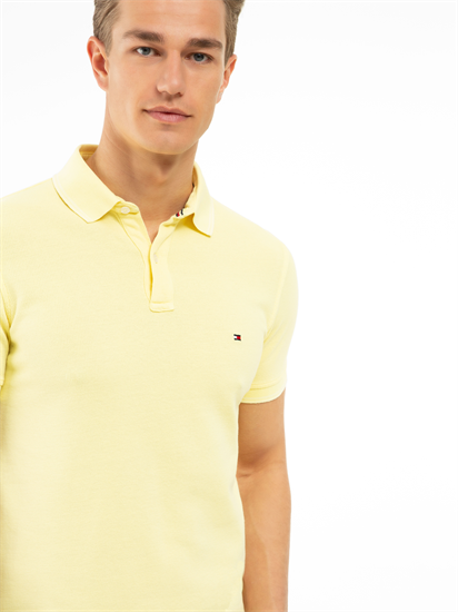 Image sur Polo Slim Fit texturé