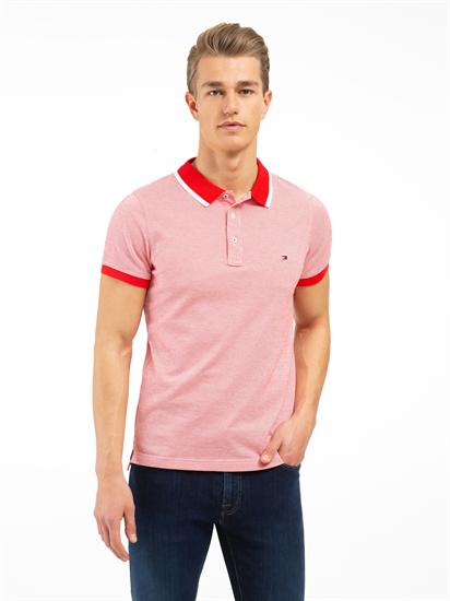 Polo Shirt im Slim Fit mit Struktur