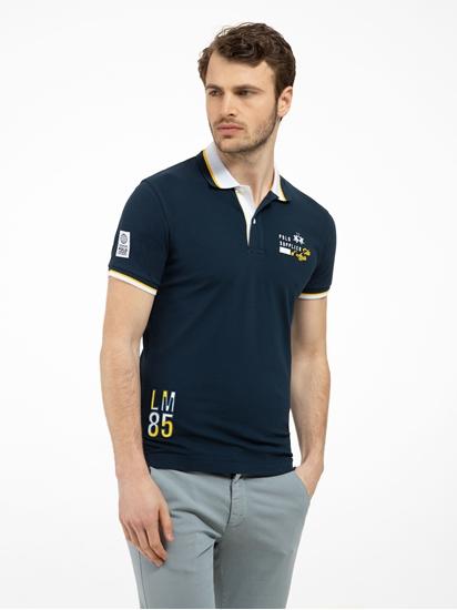 Image sur Polo Slim Fit coton piqué avec broderies