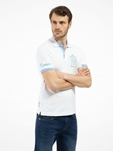 Bild von Polo-Shirt mit Patches und Stickerei
