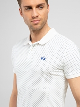 Image sur Polo coton piqué  à micro-imprimé