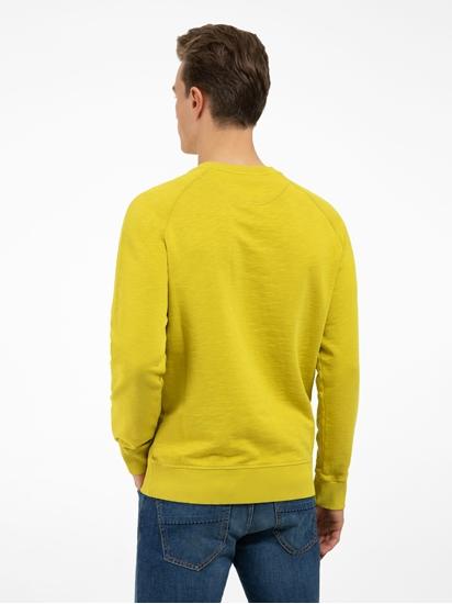 Image sur Sweatshirt fil flammé et logo brodé