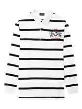 Image sur Shirt de rugby avec rayures et broderies