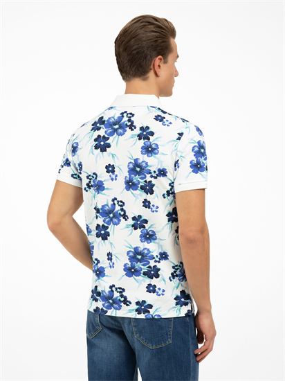Bild von Polo-Shirt aus Piqué mit Blumen-Print