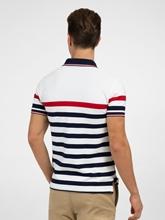 Image sur Polo Slim Fit coton piqué à rayures