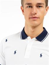 Image sur Polo Slim Fit coton piqué et logo brodé