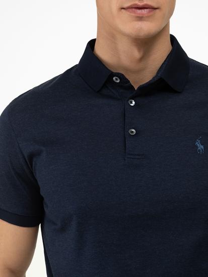 Bild von Polo.Shirt im Custom Slim Fit in melierter Optik