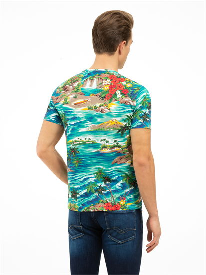 Image sur T-shirt Custom Slim Fit imprimé