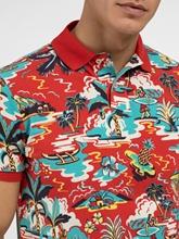 Bild von Polo-Shirt im Custom Slim Fit mit Print aus Piqué