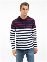 Image sur Shirt avec capuche et rayures