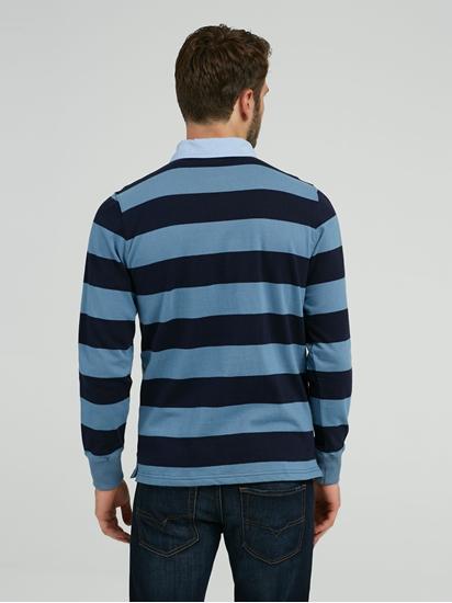 Image sur Rugbyshirt mit Streifen
