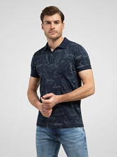 Image sur Polo-Shirt mit Print im Shaped Fit