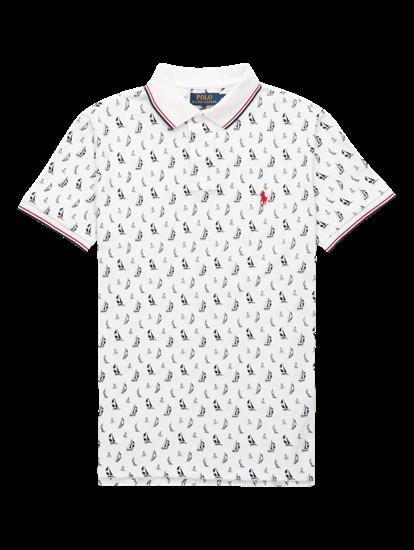 Image sur Polo Custom Slim Fit imprimé