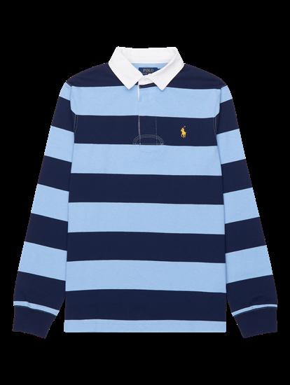 Bild von Rugbyshirt im Custom Slim Fit mit Streifen