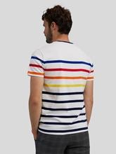 Image sur T-shir à rayures multicolores