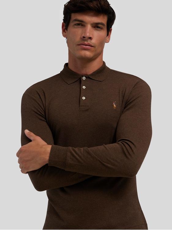 Bild von Langarm Polo-Shirt