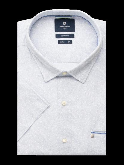 Image sur Chemise manches courtes et micro-imprimé