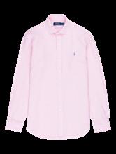 Bild von Hemd aus Leinen in melierter Optik