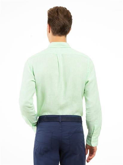 Image sur Chemise lin à rayures