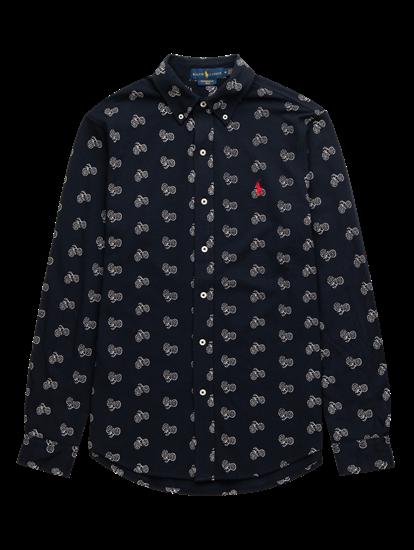 Bild von Hemd aus Piqué mit Print