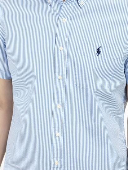 Bild von Hemd aus Seersucker mit Streifen