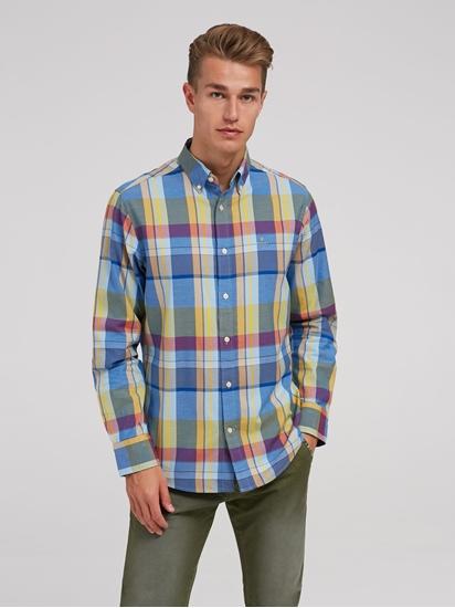 Image sur Chemise avec imprimé à carreaux