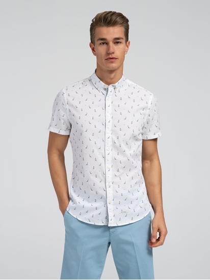 Bild von Hemd im Shaped Fit mit Print