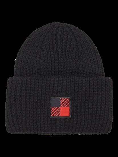 Bild von Mütze mit Rippen und Logo