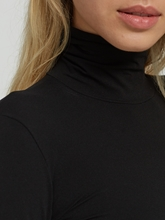 Bild von Langarmshirt mit Rollkragen Basic