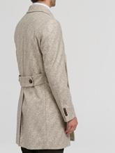 Image sur Manteau laine motif à chevrons
