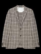 Image sur Veston moucheté avec carreaux grille