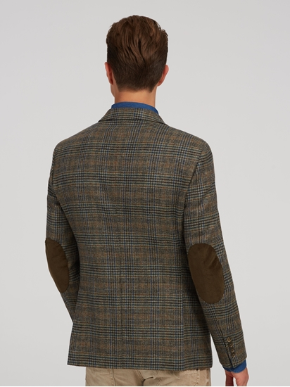 Bild von Veston aus Tweed mit Ellbogen-Patches