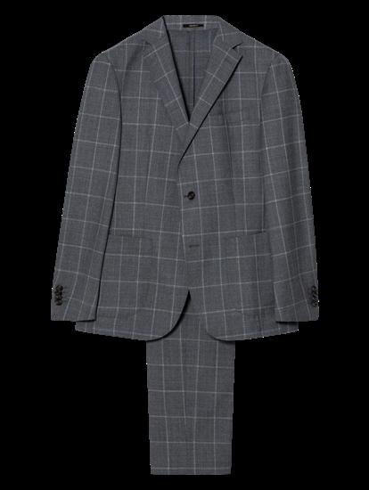 Image sur Costume 2 pièces Shaped Fit à carreaux grille