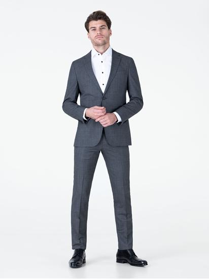 Bild von Anzug 2-teilig im Slim Fit in melierter Optik