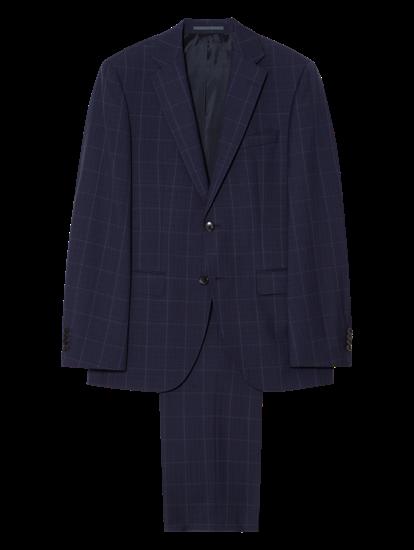 Bild von Anzug im Regular Fit mit Karo