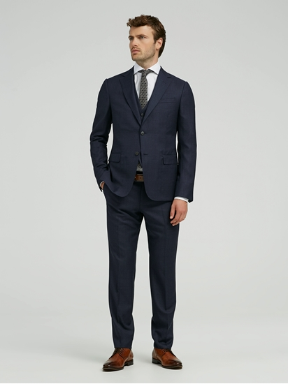 Bild von Anzug 3-teilig mit Karo-Muster