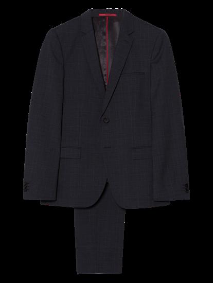 Bild von Anzug 2-teilig mit Karo im Extra Slim Fit