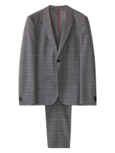 Image sur Costume 3-pièces Extra Slim Fit à carreaux