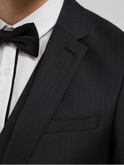 Bild von Anzug 3-teilig im Slim Fit mit Struktur