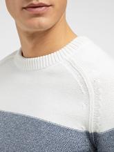 Bild von Pullover mit Blockstreifen in melierter Optik