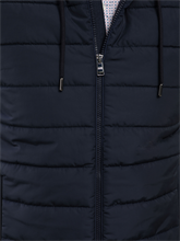 Image sur Veste matelassée à capuche avec  mélange de matières